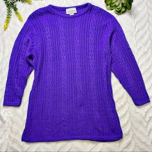 Diane Von Furstenberg Vintage Lurex Purple Tunic